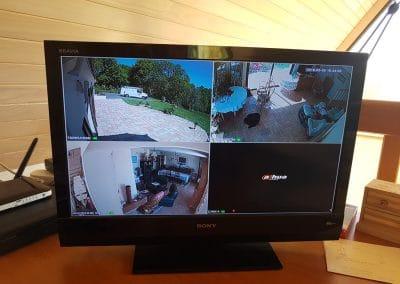 vidéosurveillance sur écran de contrôle