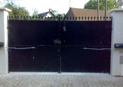 pose motorisation sur portail